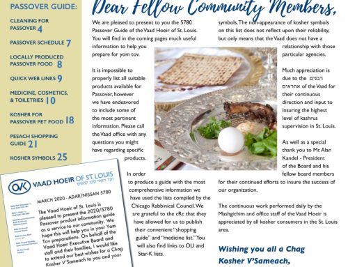 Pesach Guide – 2020/5780