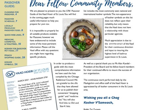 Pesach Guide – 2021/5781